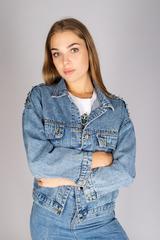 Классическая джинсовая куртка женская Nadya