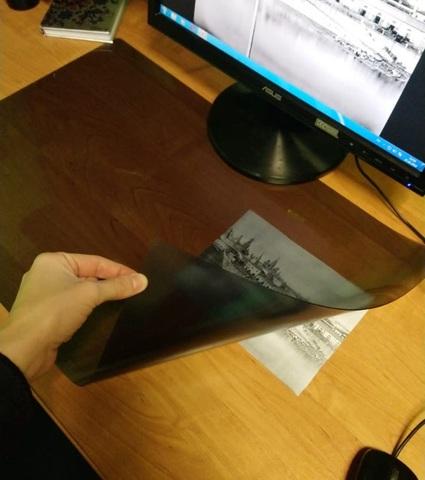 Коврик на стол  черный  40 х 60см.
