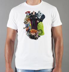 Футболка с принтом мультфильма Монстры на каникулах ( Hotel Transylvania) белая 009