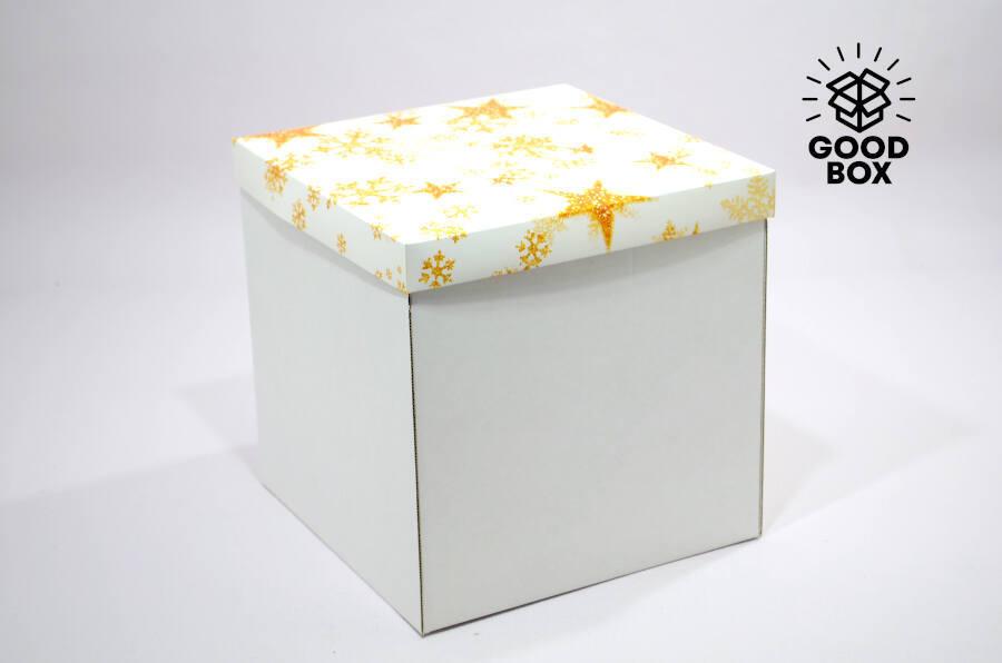 Новогодняя коробка большого размера купить в Алматы