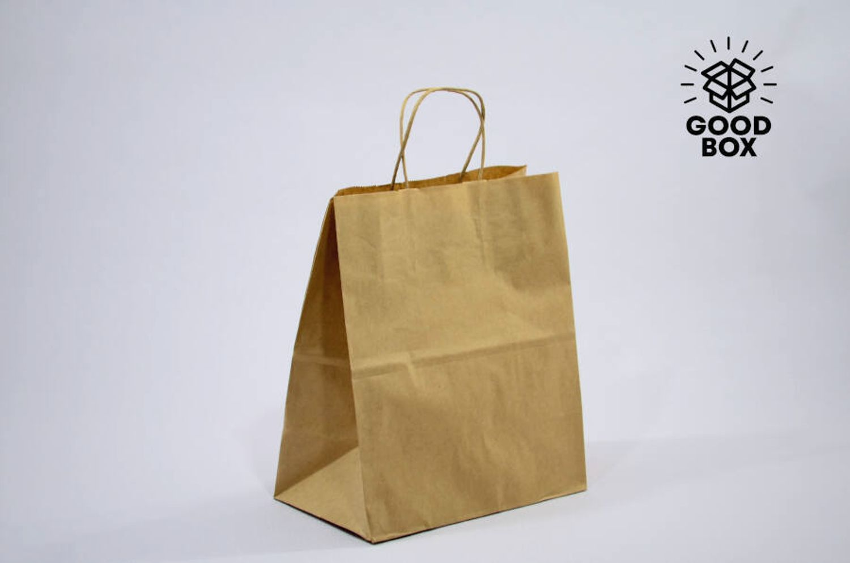 Крафт пакет бурого цвета 310*195*340