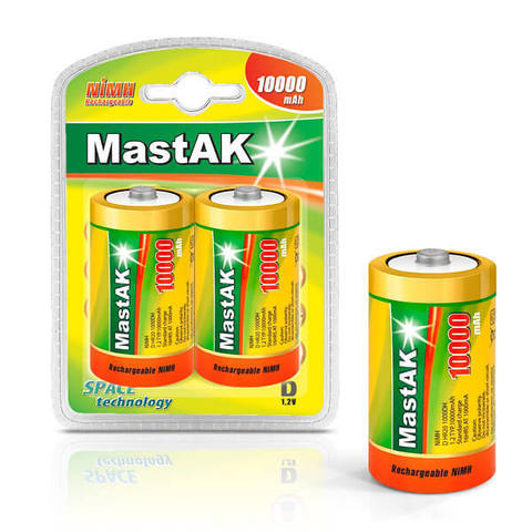 Аккумуляторы MastAK R 20/2bl 10000mAh Ni-MH
