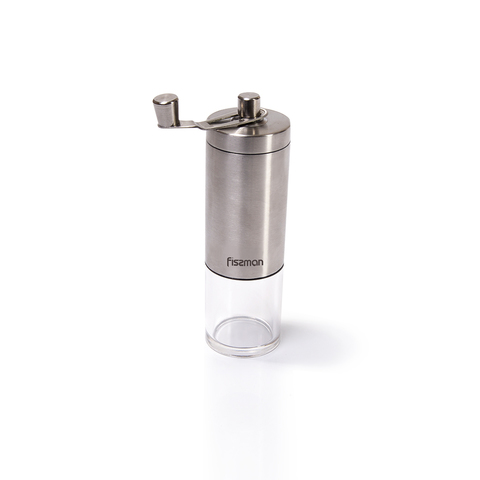 8250 FISSMAN Кофемолка ручная 18 см (стальной корпус с керамическим механизмом)