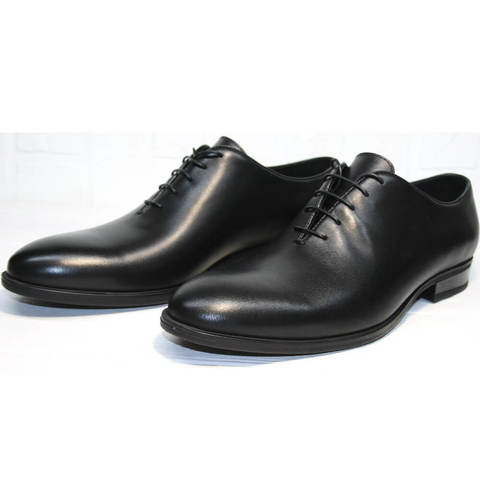 Классические туфли. Мужские кожаные туфли оксфорды Ikos Black.