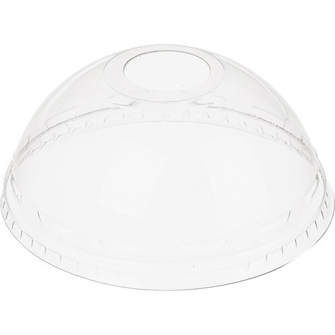 Крышка для стакана 95 мм пластиковая прозрачная купольная 50 штук в упаковке