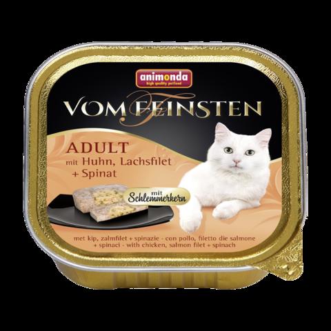 Animonda Vom Feinsten Adult Меню для гурманов Консервы для кошек с курицей, филе лосося и шпинатом