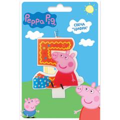 Свеча цифра №5_Peppa Pig