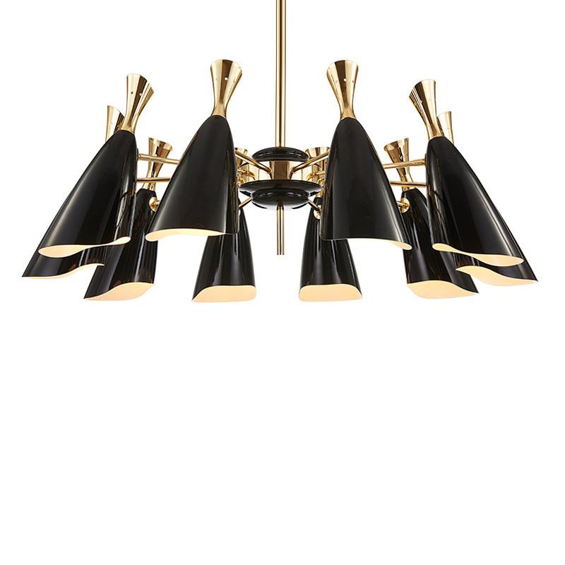 Потолочный светильник копия Duke by Delightfull (8 плафонов, черный)