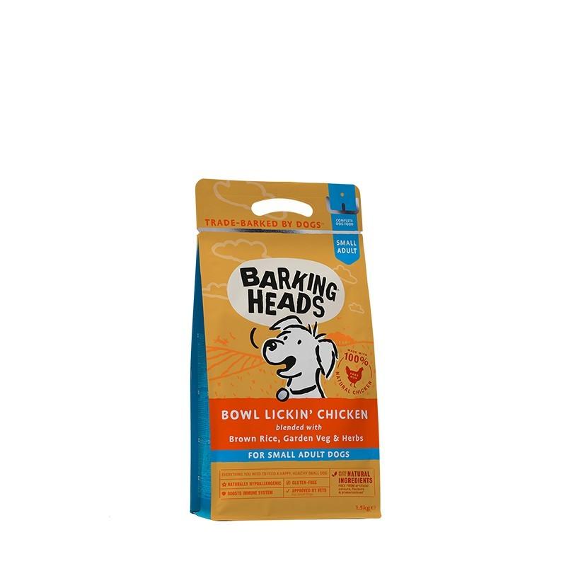 """Barking Heads Корм для собак малых пород с чувствительным пищеварением, BARKING HEADS """"До последнего кусочка"""", с курицей и рисом взр_мелк_кур_1_5.jpg"""