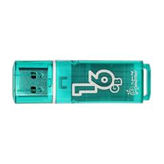 Флеш-память SmartBuy Glossy series 16 Gb USB 2.0 зеленая