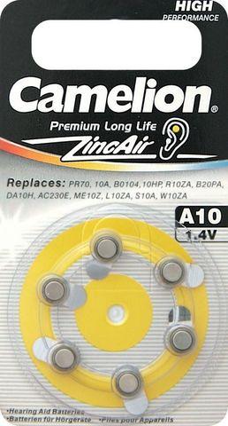 Батарейки Camelion ZA 10 / 6 BL