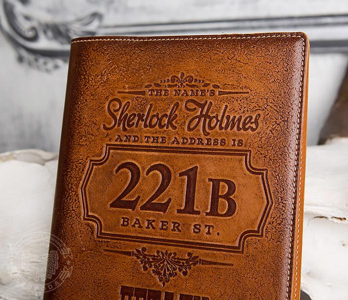 BY05-05-02 Подарочный кожаный ежедневник «Шерлок Холмс: Детали расследования» фото 03