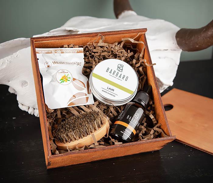 PSET101 Подарочный набор средств для ухода за бородой с чаем