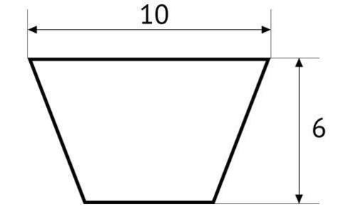 Ремень клиновой полиуретановый UNITED PARTS тип Z (10мм) не армированный (красный) 1 метр (PUA10)