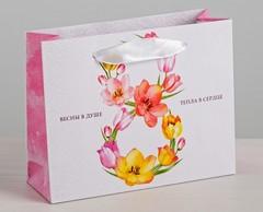 Пакет ламинированный горизонтальный «Весны в душе», S 15 × 12 × 5,5 см