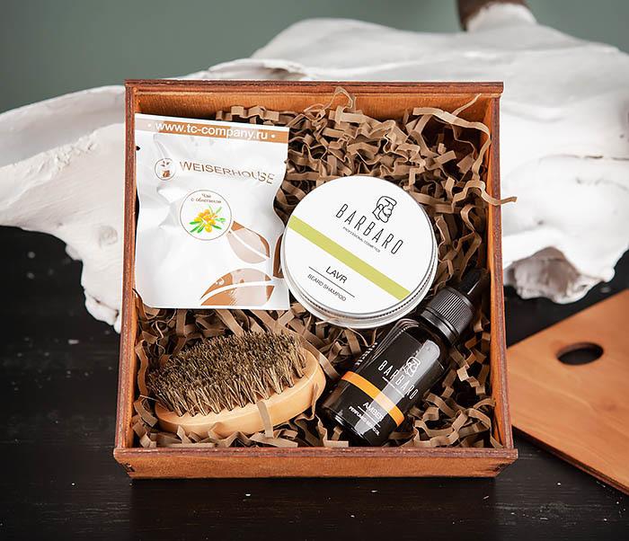 PSET101 Подарочный набор средств для ухода за бородой с чаем фото 02
