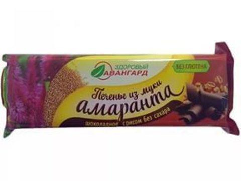 Печенье из муки амаранта Шоколадн с возд рис б/глютен 120г