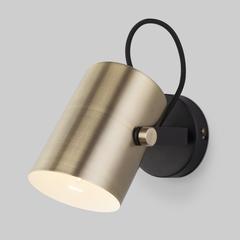 Настенный светильник с поворотным плафоном 20093/1 черный/античная бронза