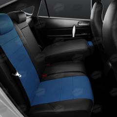 Универсальные авточехлы (черный + синий)
