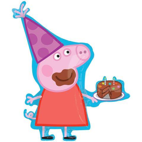 Шар фигура свинка пеппа с тортом Anagram
