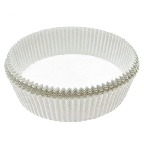Капсулы бумажные для тарталеток белые 8*2,5см, 25шт