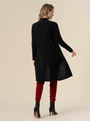 Женский кардиган черного цвета из 100% кашемира - фото 3