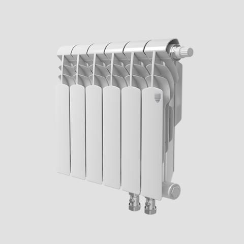 Биметаллический радиатор с нижним правым подключением Vittoria 350 VD - 10 секций