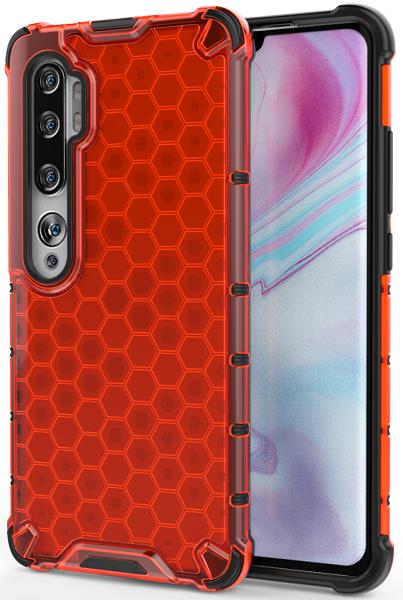 Чехол красного цвета на Xiaomi Mi Note 10 и 10 Pro от Caseport, серия Honey