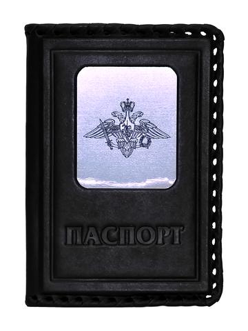 Обложка на паспорт | Герб вооруженных сил РФ | Чёрный