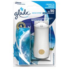 Освежитель воздуха Glade Мини-спрей Морской, 10мл основной блок