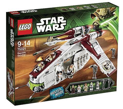 LEGO Star Wars: Республиканский истребитель 75021 — Republic Gunship — Лего Звездные войны Стар Ворз