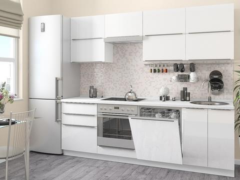 Кухня Фьюжн-2 белый, brilliant