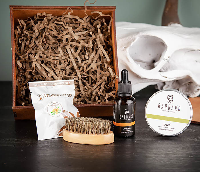 PSET101 Подарочный набор средств для ухода за бородой с чаем фото 04
