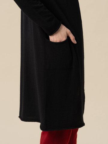Женский кардиган черного цвета из 100% кашемира - фото 5