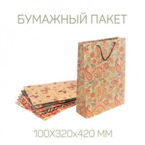 Подарочный бумажный пакет 100Х320х420