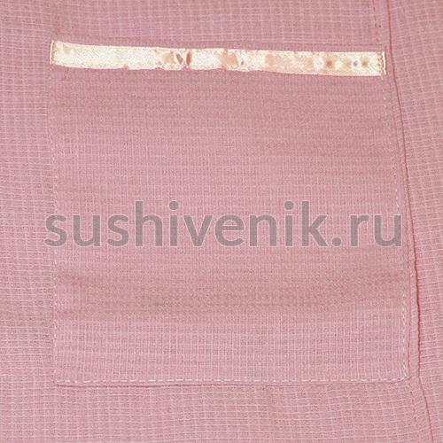 Парео для бани женское вафельное, XXXL (розовое)