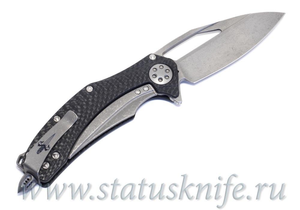 Нож Marfione Custom Matrix Apocalyptic Stonewash M390 CF - фотография