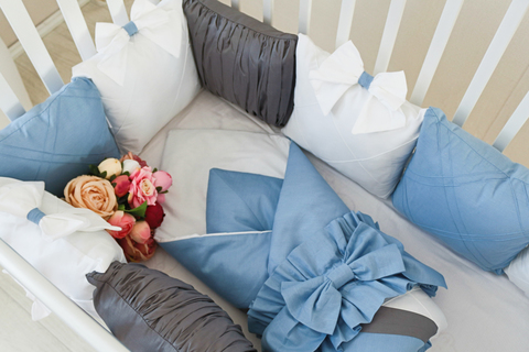 Комплект в кроватку Лондон, на 4 стороны кроватки