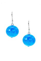 Комплект Satinato Dark Aqua (голубые серьги, браслет)