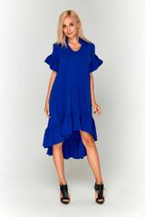 Ярко-синее длинное платье Lolly