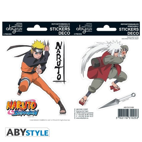 Наклейки ABYstyle: NARUTO: Naruto/ Jiraiya ABYDCO151