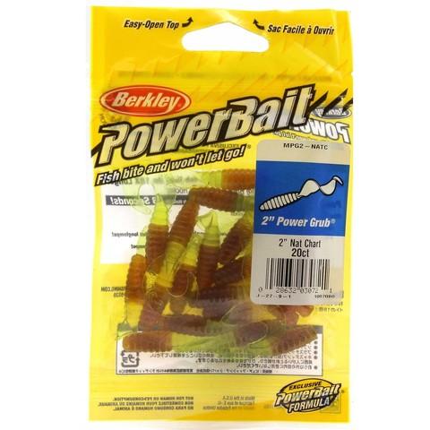 Приманка силиконовая Berkley Powerbait Power Grub MPG2-NATC Natural Chartreuse 2