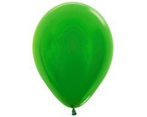 Шарики Зеленый лайм (металлик)