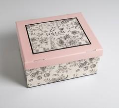 Коробка складная «Цветы», 31,2 х 25,6 х 16,1 см, 1 шт.