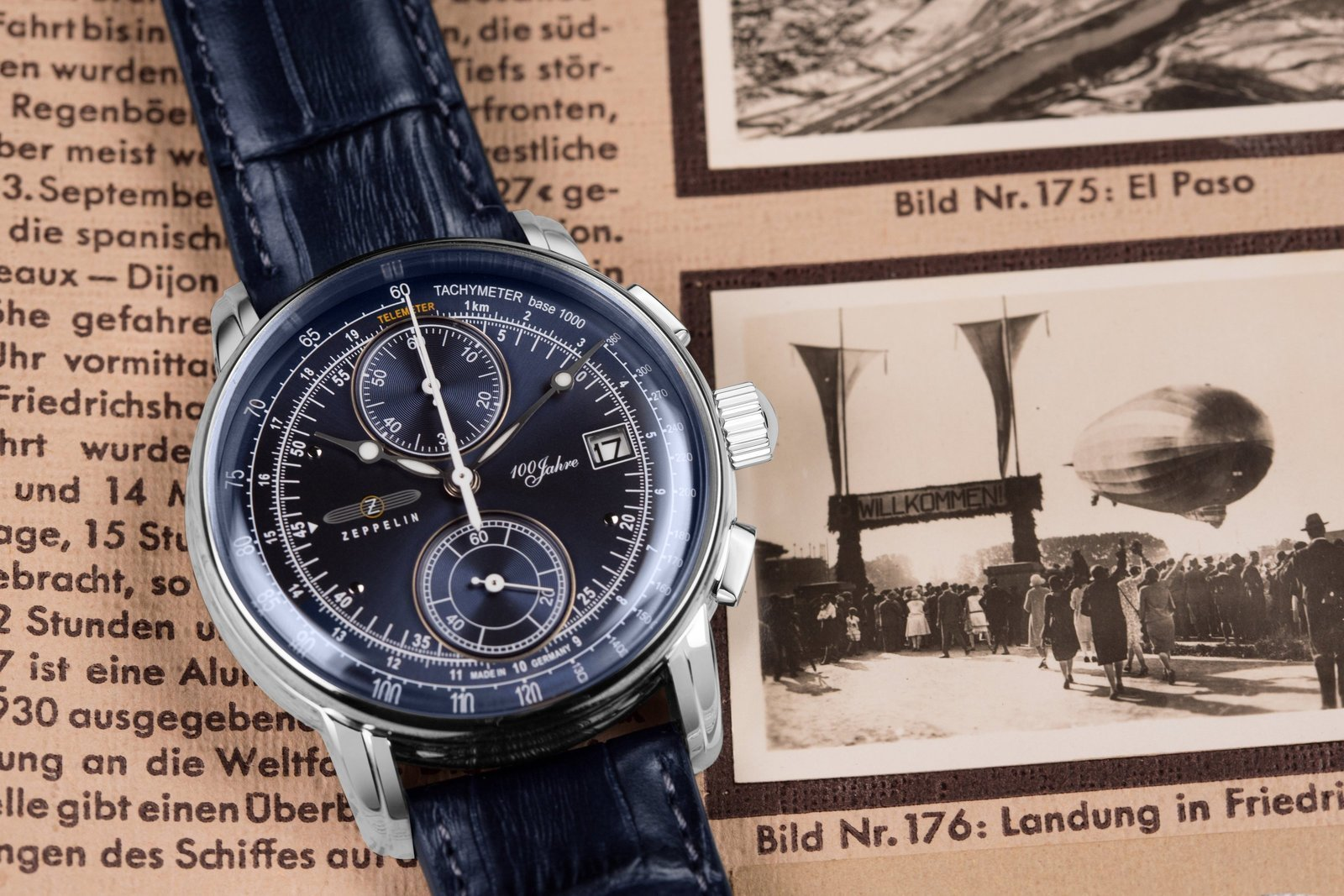 Часы Zeppelin 100 Years Zeppelin ED. 1 86703 синие