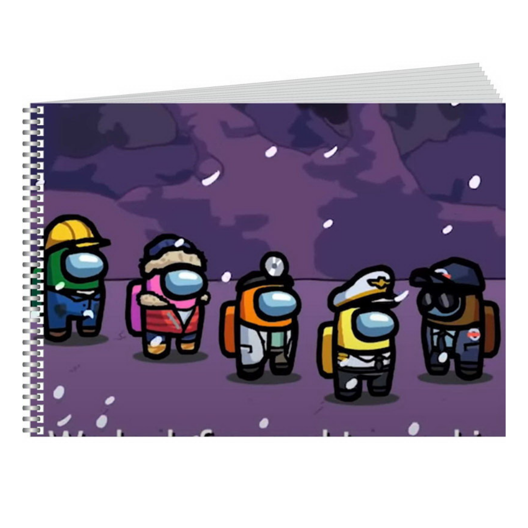 Скетчбук блокнот для рисования Амонг ас (Among us) А5 190х210 мм 48л 80г/м2 №2