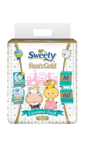 Трусики Sweety Pantz Gold M60 (7-12кг)