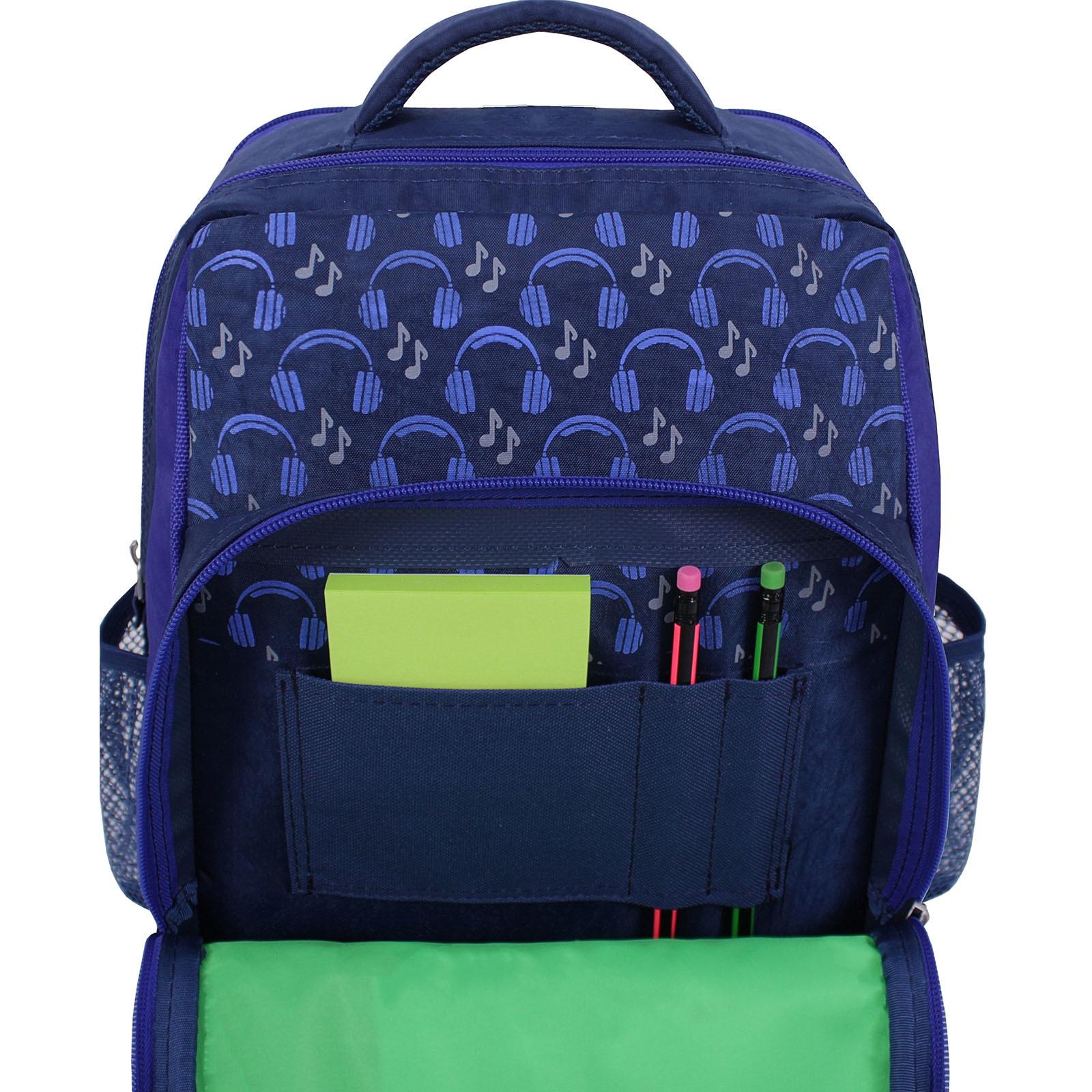 Рюкзак школьный Bagland Школьник 8 л. 225 синий 614 (00112702) фото 3