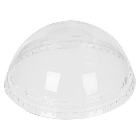 Крышка для стакана Стиролпласт 95 мм пластиковая прозрачная купольная 50 штук в упаковке