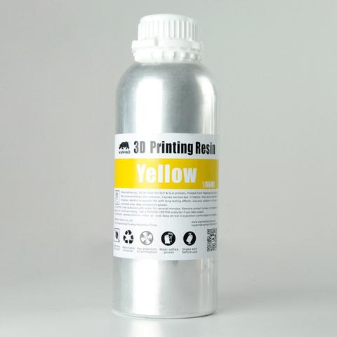 Фотополимер Wanhao Standard Resin, жёлтый (1 л)